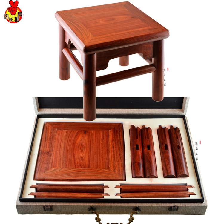 Zambia Rich Africa Lobular Red Sandalwood Stool Blood Stool Removing Tan Tenon Structure Of Chinese Mahogany Furniture Chair