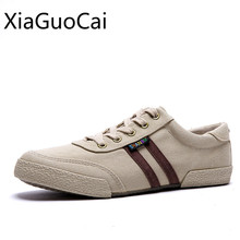 Japanese Style Retro Men Canvas Shoes Student Gingham Casual
