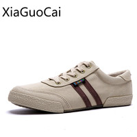 Japanese Style Retro Men Canvas Shoes Student Gingham Casual Shoes For Man Sewing Sneakers Trainers Shoes
