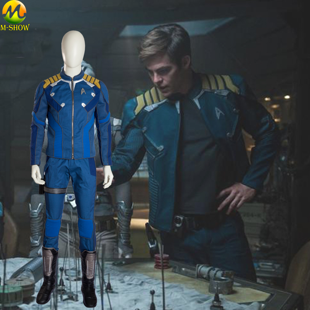 Star Trek Beyond Captain Kirk Cosplay Superhero Commander Kirk Battle Twill Outfit Halloween Costume For Men Custom Made