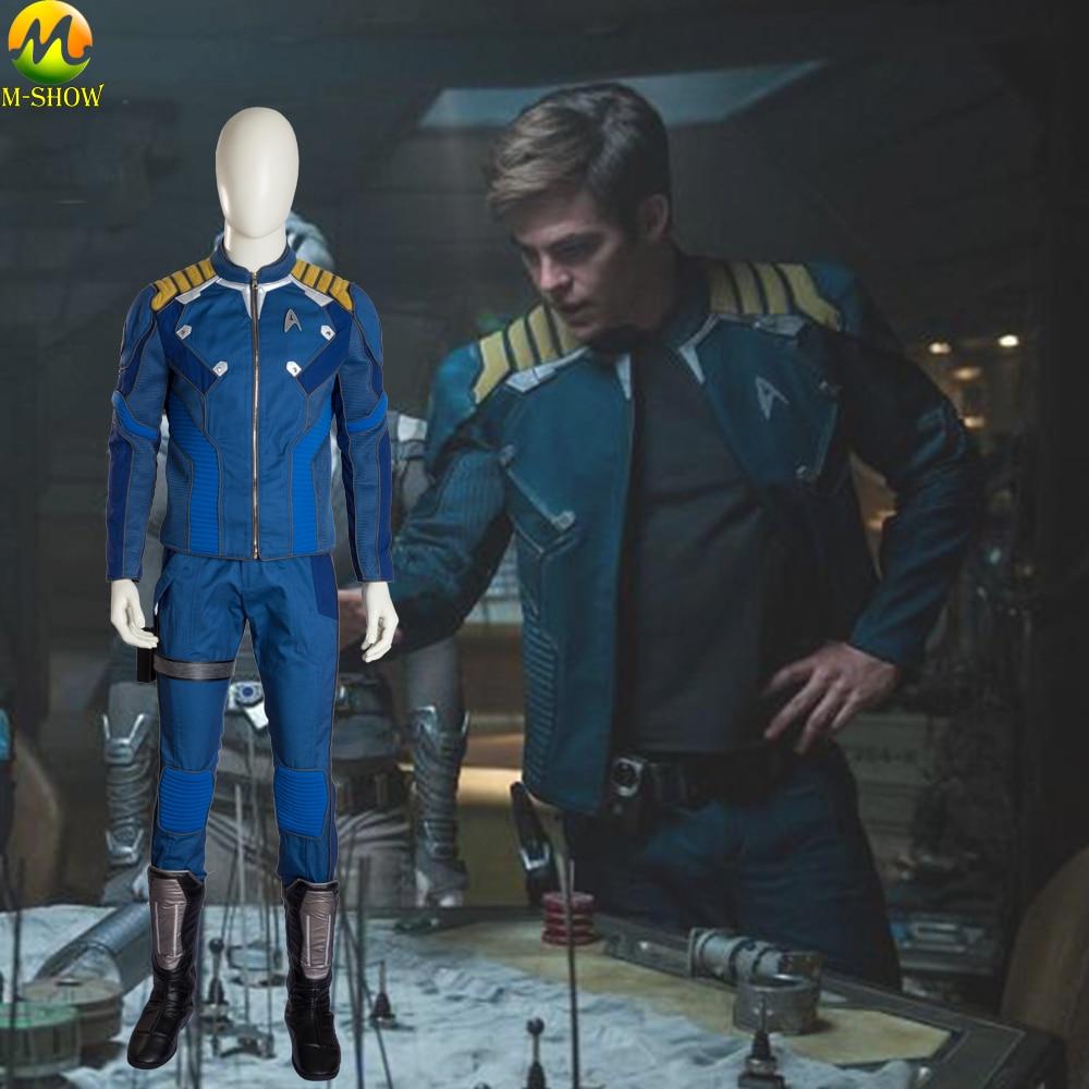 Star Trek Beyond Captain Kirk Cosplay Superhero Commander Kirk Battle Twill Outfit Halloween Costume For Men Custom Made