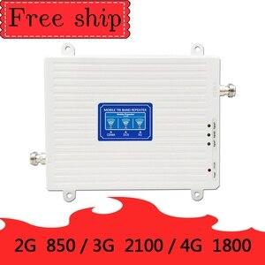 Image 2 - 70dB wzmocnienie 2g 3g 4g tri band wzmacniacz sygnału 850 1800 2100 CDMA WCDMA UMTS LTE wzmacniacz komórkowy 850/1800/2100mhz wzmacniacz