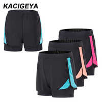 Running Shorts Women Fitness Elastic Waiste 2 In 1 Breathable Gym Outdoor Sport Shorts Training Marathon Quick dry Yoga Shorts