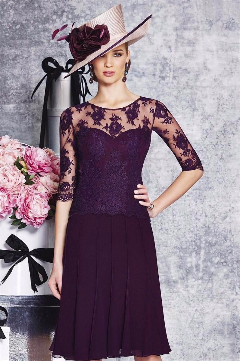 2016-Modest-Purple-Mother-of-the-Bride-Dress-Half-Sleeves-Knee-Length-Formal-Evening-Party-Gowns (1)