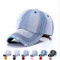 Men Women baseball cap Snapback caps Brand New Golf Women's Jeans Denim Caps In White male Bone Plain Casquette Visor Hat