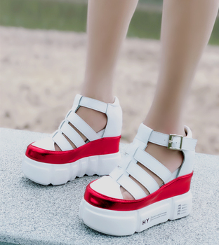 Summer New Women Sports Sandals Korean Version Of The Thick Bottom Of The Wild Women Wedges With Muffin Bottom Casual Shoes