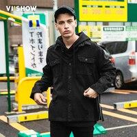 VIISHOW 2018 New Spring Fashion Denim Jacket Men Black Jacket Vintage Slim Fit Jackets For Men Top Brand Mens Clothing JC1858173