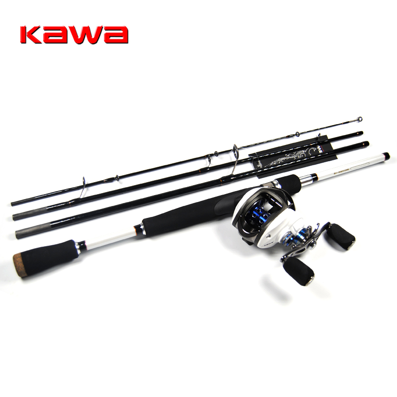 Kawa 4 sections ml lure lure fishing rod combo for White fishing rod