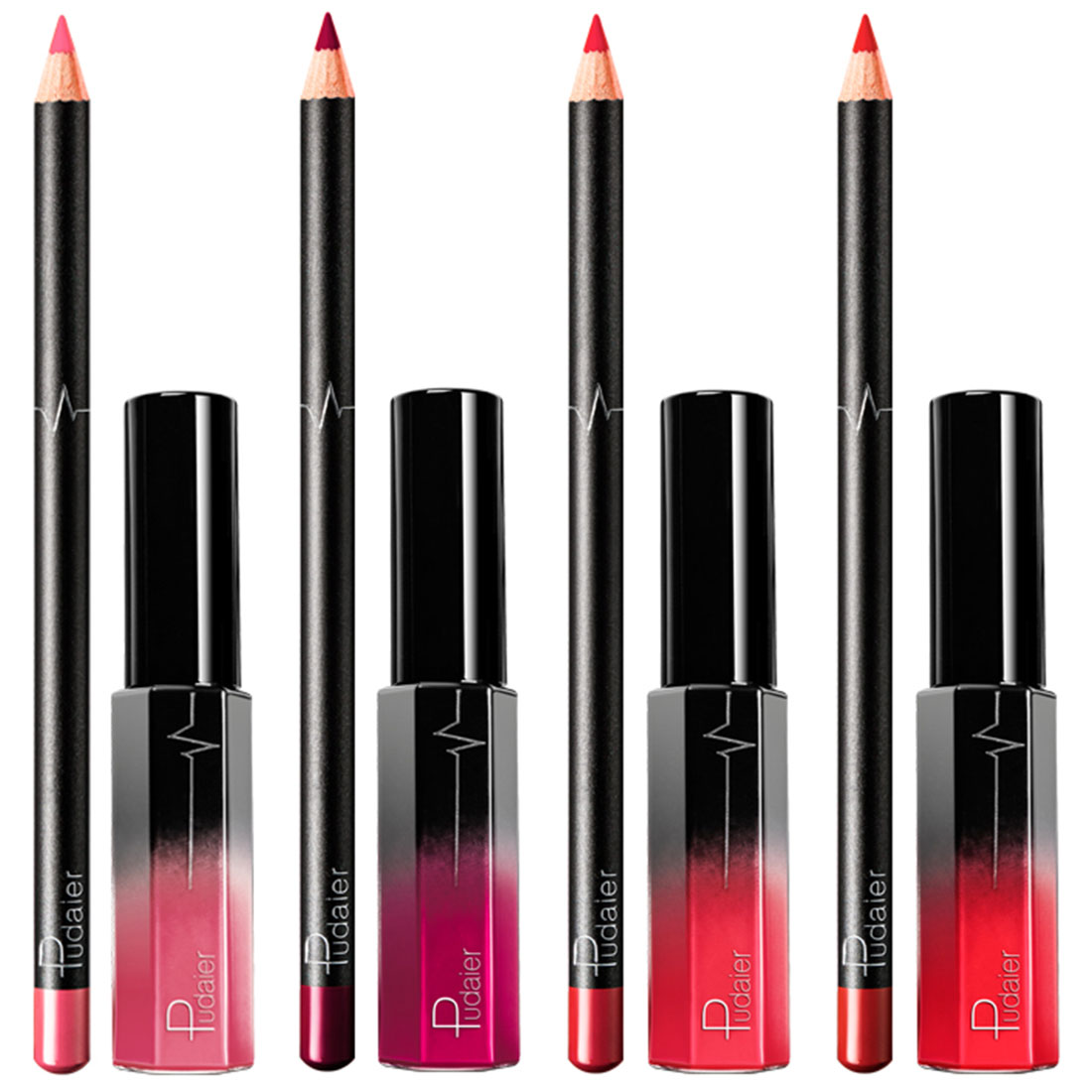 <font><b>Matte</b></font> liquid <font><b>lip</b></font> <font><b>gloss</b></font> <font><b>cosmetic</b></font> <font><b>lipstick</b></font> <font><b>set</b></font> waterproof long-lasting <font><b>lipstick</b></font> <font><b>lip</b></font> liner combination <font><b>lip</b></font> tool image