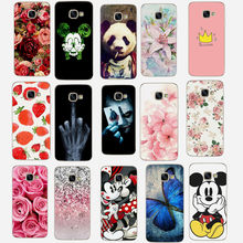 For Samsung Galaxy J5 2016 Case Cover Cute Flowers Painted Soft TPU Silicone For on samsung galaxy A3 A5 J3 J5 2016 2017 Cover(China)