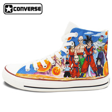 Unique Sneakers Women Men Converse All Star Anime Dragon Ball Family Figures Collection Design Hand Painted Shoes Christmas Gift