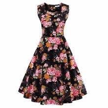 Beautiful Cheap Vintage Summer Dresses Women Print Retro A-Line Robe Pull Causal Dress Brazil Elegant Big Plus Size Vestidos 4xl