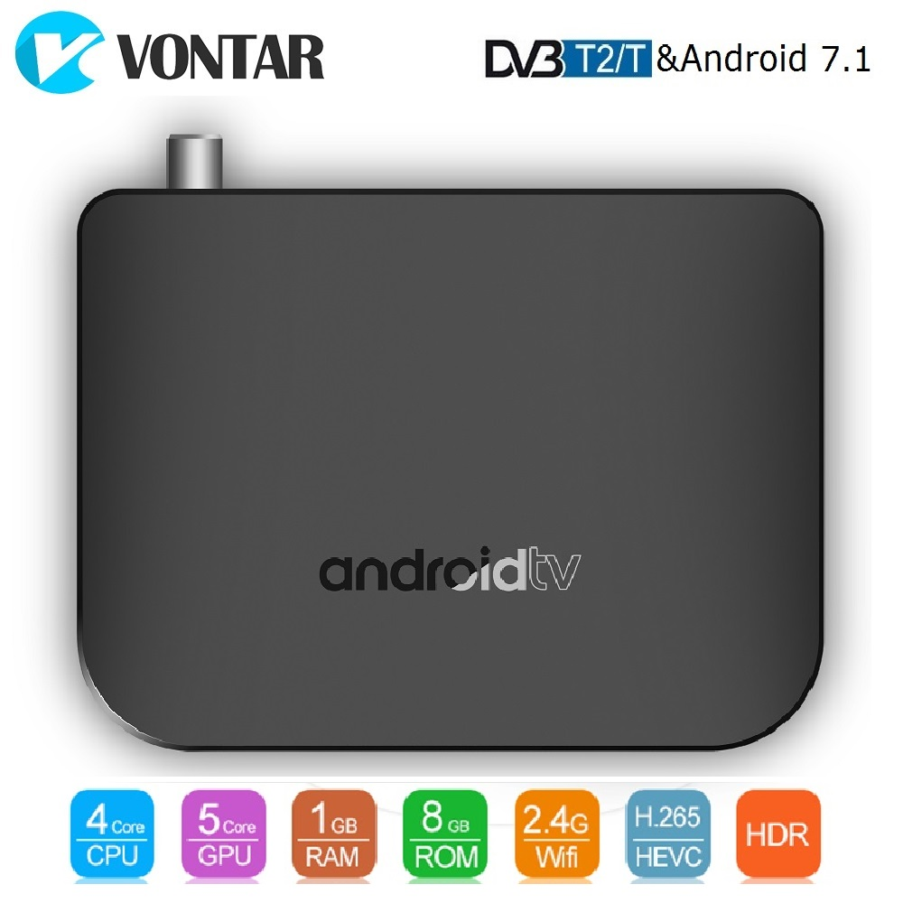 VONTAR DVB-T2/T Android TV Box Amlogic S905D Quad Core 1 GB 8 GB 1080 p 4 K 30fps youtube Google Play Store MECOOL M8S PLUS