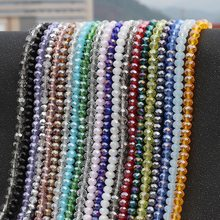 Mix Color 70Pcs 8mm Rondelle Austria faceted Crystal Glass Beads Loose Spacer Round Beads for Jewelry Making Necklace Bracelet(China)
