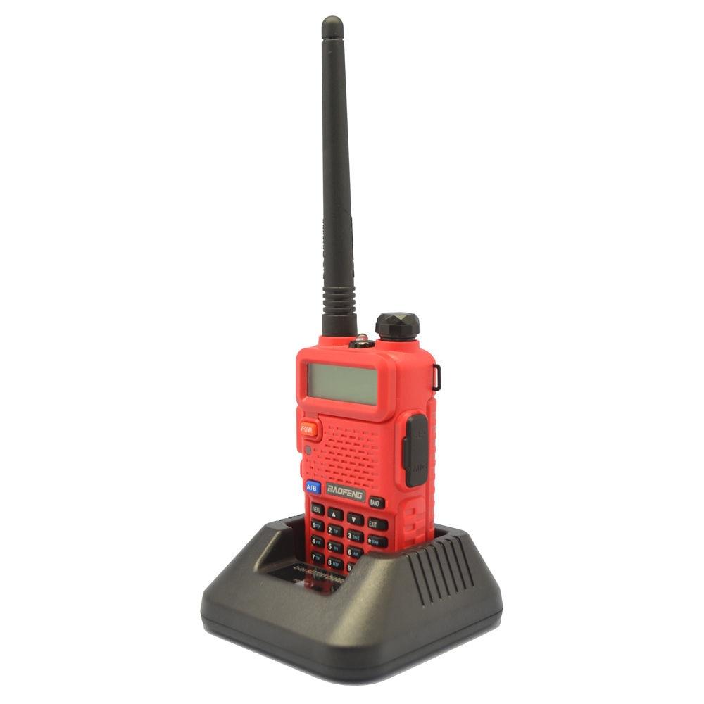 2020 Newest Red BaoFeng UV-5R 136-174/400-520 MHz Dual-Band CTCSS FM Ham Walkie Talkies