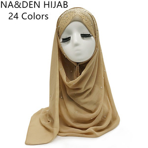 Image 3 - Écharpe en mousseline pour femme, châle en mousseline de soie pour femme, nouvelle mode, style musulman, bandana, 10 pièces, livraison rapide