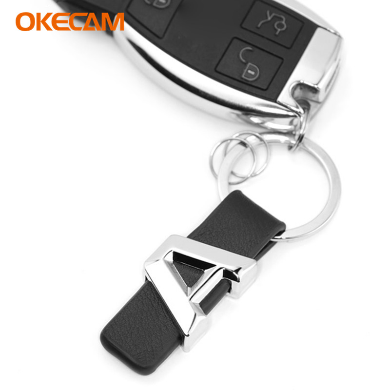 OKECAM For Mercedes Benz A Class W176 W168 W169 Car Leather Keychain Key Ring Auto Accessories катушка зажигания для mercedes benz w168 a140 a160 a190 vaneo 0221503033 a0001501380