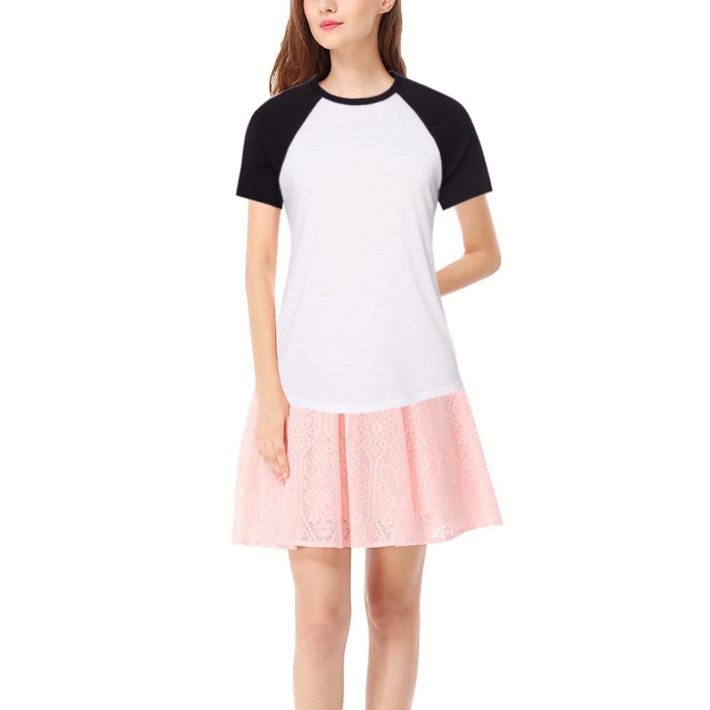 iDzn 2017 zbrusu nové módní letní ležérní dámské trička dámské černé červené dívčí raglánové tričko s krátkým rukávem a topy