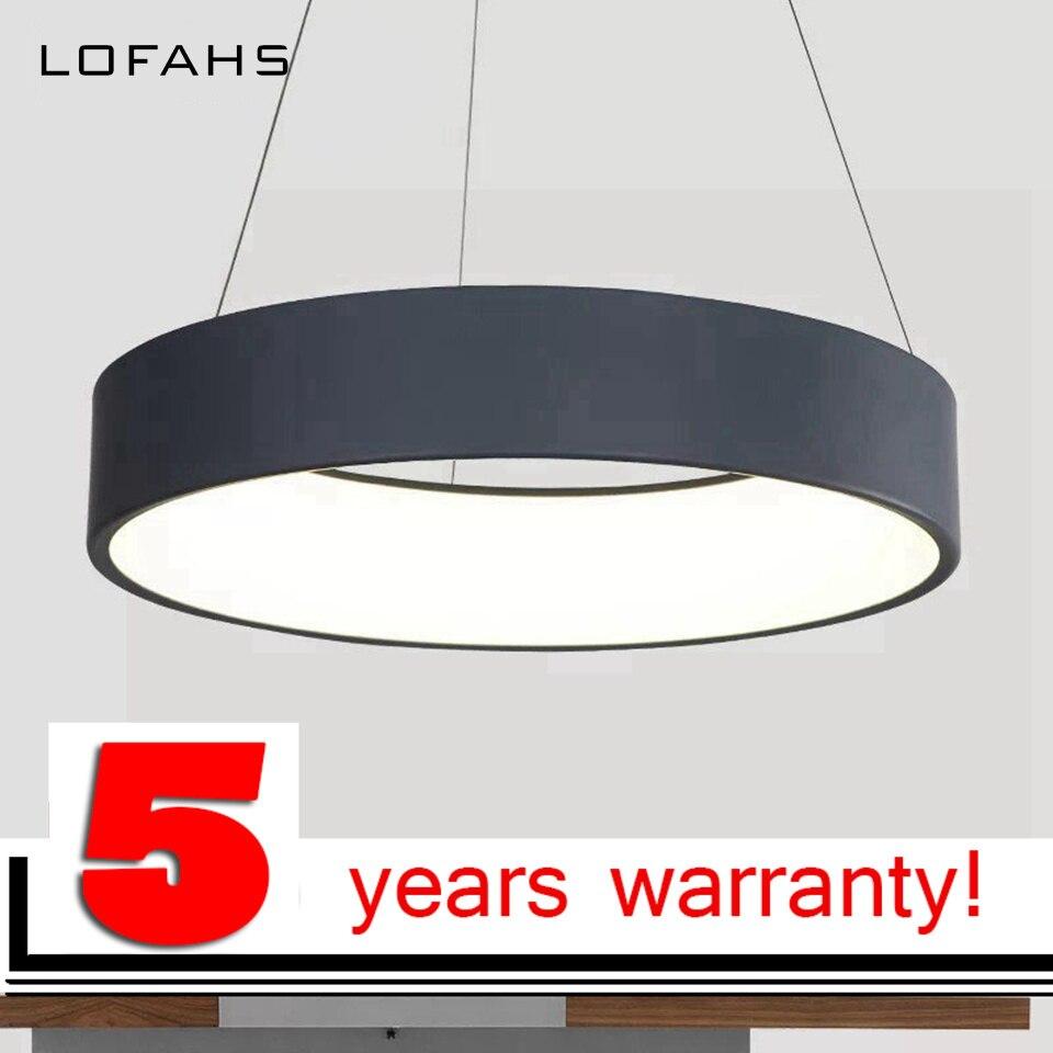 LOFAHS круглые круги подвесной светильник светодио дный алюминиевый светодиодный подвесной светильник украшения подвесные светильники для о...