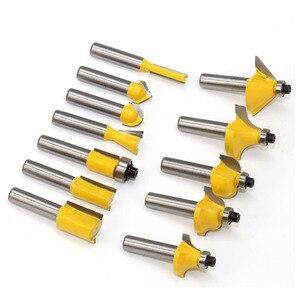 Image 3 - 12 pçs fresa conjunto de bits roteador 8mm cortador de madeira carboneto shank moinho carpintaria corte gravura escultura ferramentas corte
