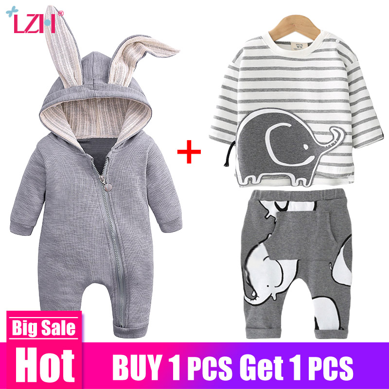 Newborn Baby Boys Clothes Sets 2019 Autumn Winter Baby Girls Clothes Outfit Infant Clothing For Baby Children Overalls 0-2 Year