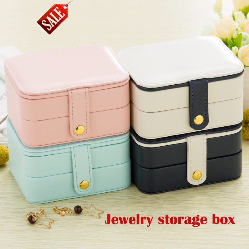 Leather Jewelry Storage Boxes Cosmetic Bags EarringsRingWatches