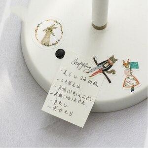 Image 4 - 45 sztuk/pudło las koncert zwierzęta Mini papier dekoracja naklejki Album DIY pamiętnik Scrapbooking naklejki etykiety Kawaii biurowe