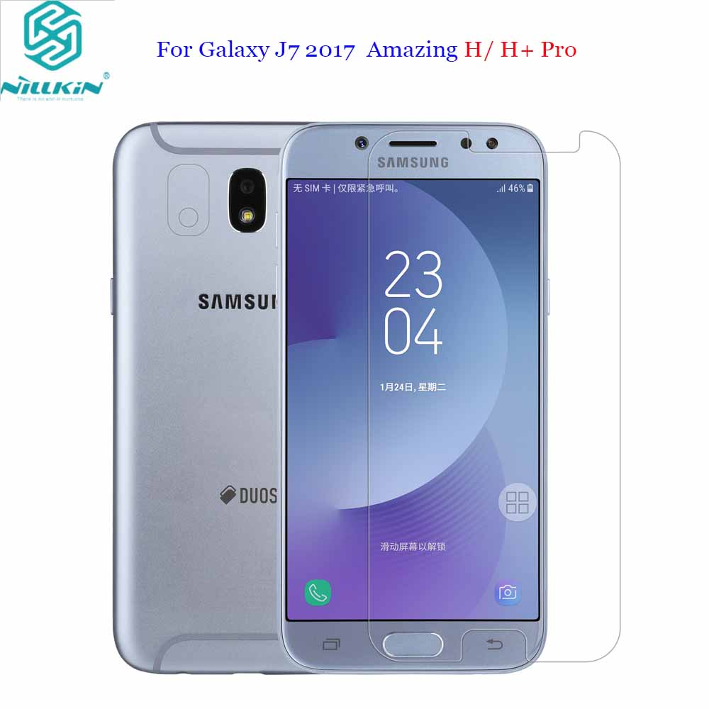 For Samsung Galaxy <font><b>J7</b></font> 2017 Tempered Glass Nillkin Amazing H /H+PRO Tempered Glass Phone Screen Protector For Galaxy <font><b>J7</b></font> pro J730F