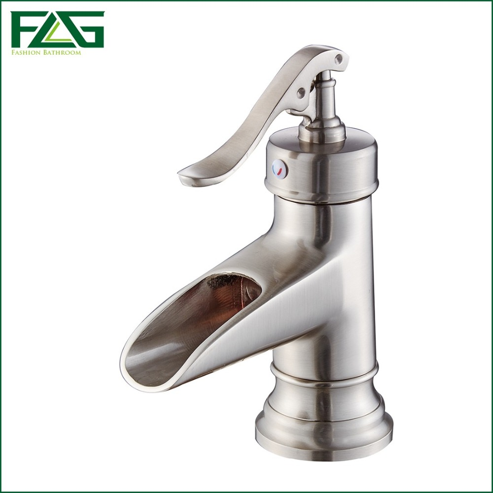 online get cheap single hole bathroom faucet brushed nickel
