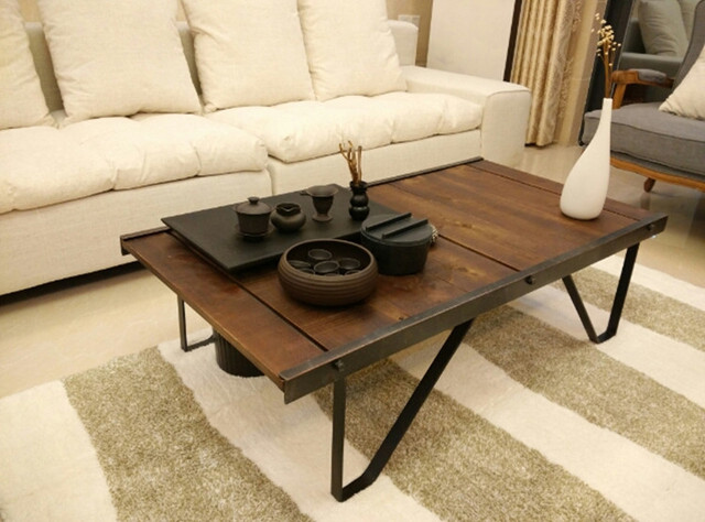 loft vintage american country to do the old industrial style furniture office coffee table kung. Black Bedroom Furniture Sets. Home Design Ideas