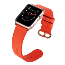 цена на For Apple Watch Band 44mm 40mm 42mm 38mm,Viotoo Genuine leather Orange Watch Strap For Apple Watch For iWatch Sport Watchbands