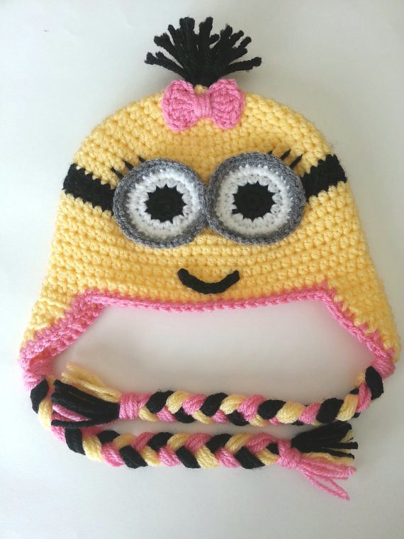 c2a33060ceed7 Crochet baby minion hat   minion beanie   baby beanie   baby hat ...