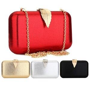 Image 5 - 赤のクラッチバッグクリスマスイブニングバッグ女性のスパンコールチェーンショルダーバッグ女性パーティー結婚式クラッチ財布ポシェットファム