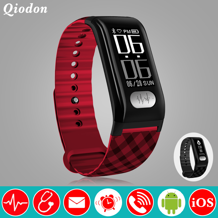 Activity Tracker ECG Bluetooth Connection Smart Clock Blood Pressure Heart Rate Monitor Smart Watch Smartwatch For Android iOS цена