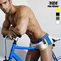 Novo 2016 pink hero boxer shorts masculino calcinhas moda cuecas dos homens roupa interior de algodão respirável patchwork soild sexy xl/xxl