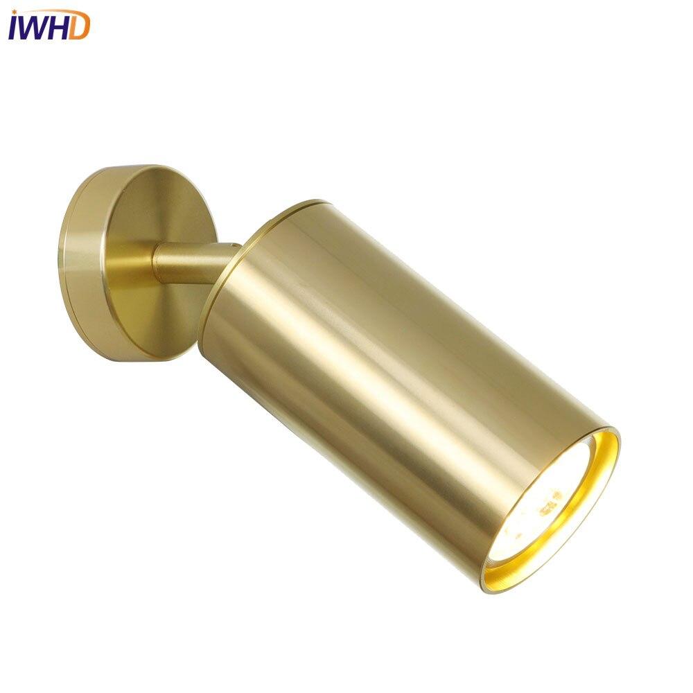 IWHD ブロンズ LED 壁ランプアルミ工業ロフト Wandlamp レトロビンテーライト器具ホーム照明アップリケ Murale  グループ上の ライト & 照明 からの LED 室内壁掛け照明 の中 1