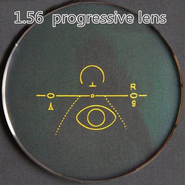 1.56 линзы прогрессивные нескольких бифокальные HC CR-39 оптические линзы очки короткий коридор для людей видеть рядом и расстояние