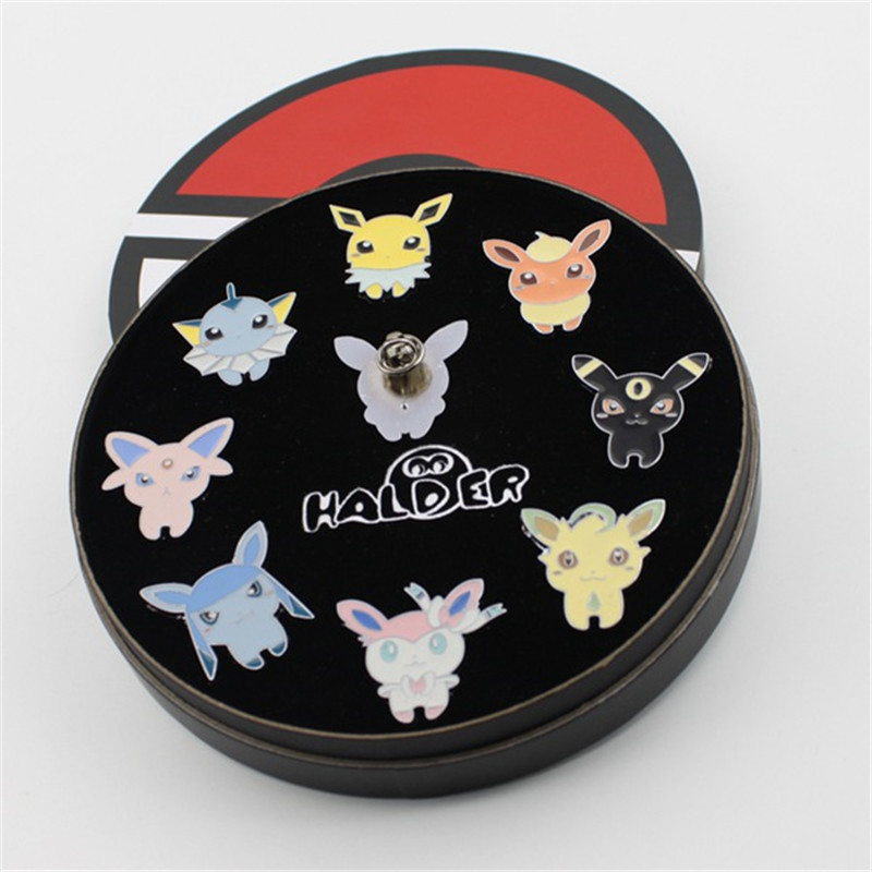 Gym Badges Kanto Region League Pins Brooches New In Box Collection Gift Pocket Monsters Cosplay