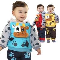 Roupas Meninos Free Shipping Autumn And Winter Baby S Clothing Cotton Mavericks Clamping Section Baby Set