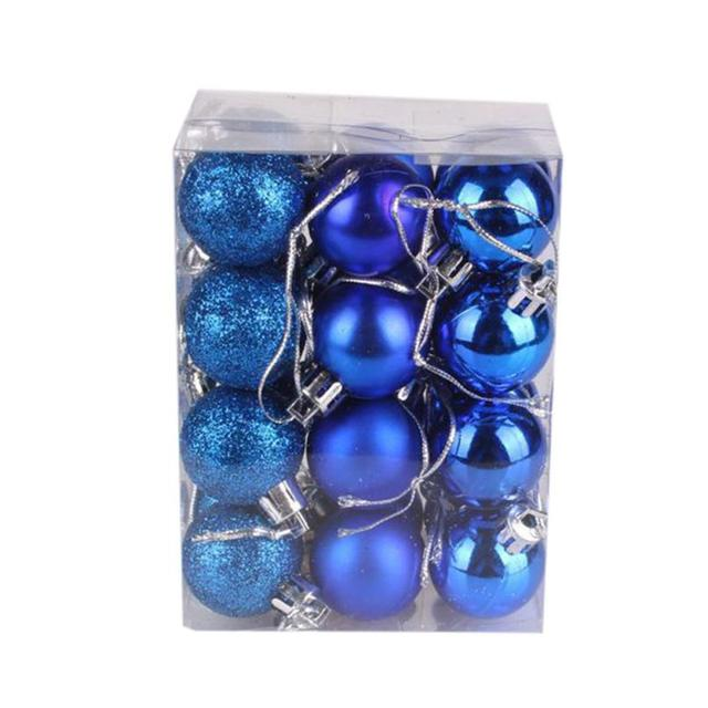 30mm Christmas Xmas Tree Ball Bauble Hanging Home Party Ornament Decor Christmas supplies #rt423