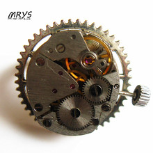 steampunk punk rock watch movements parts gears ring men women boys girls fashion jewelry christmas gift party trendy new diy