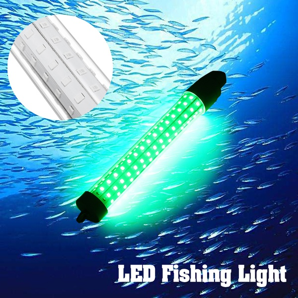 10W Green Fishing Light 12v Underwater LED Night Lamp For Collecting Fish 6 Sided LED Fishing Light 360 degree view 20*10*10 cm