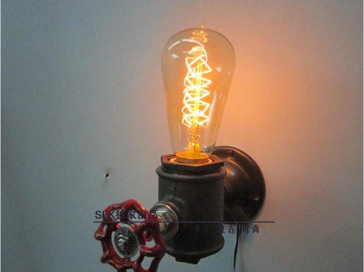Led Night Light Vintage Light Fixtures Industrial Pipe