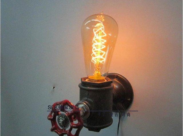 Retro Lampen Led : Led night light vintage light fixtures industrial pipe metal retro