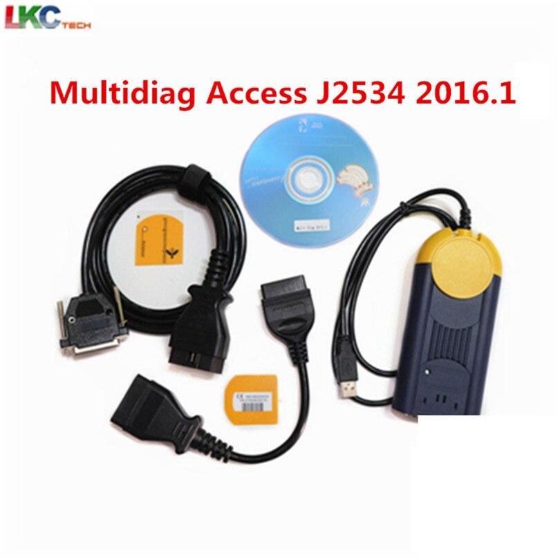 Newest 2016.1 Multi-diag j2534 multi-language Auto actia Multi-diag obd2 interface multidiag v2015.1 Auto Diagnostic Tool