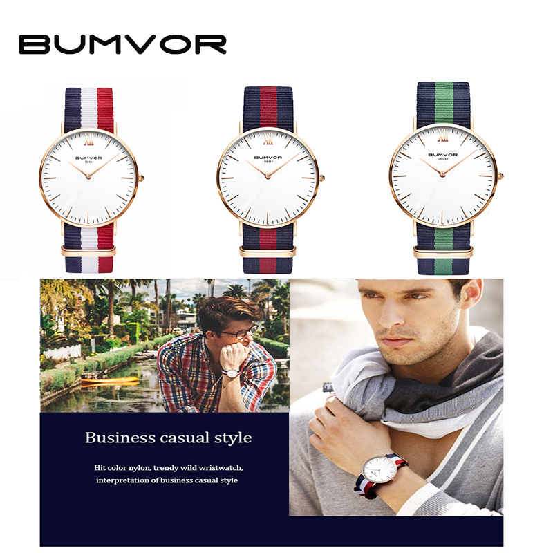 BUMVOR 2018 Watches Women Fashion Watch Unisex Watches Rose Gold Silver Lady Clock Men Similar to DW watches 1pc cemented carbide 35mm hole saw woodworking core drill bit hinge cutter boring forstner bit tipped drilling tool high quality
