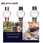 BUMVOR 2018 Watches Women Fashion Watch Unisex Watches Rose Gold Silver Lady Clock Men Similar to DW watches