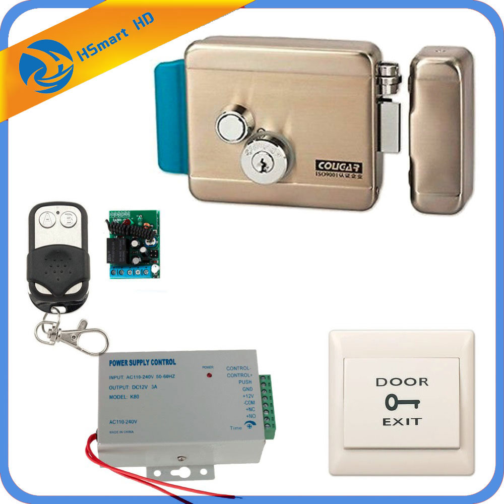 Home Security Video Intercom Doorbell Electric Electronic Door Lock For Doorbell Intercom Access Entry Security System