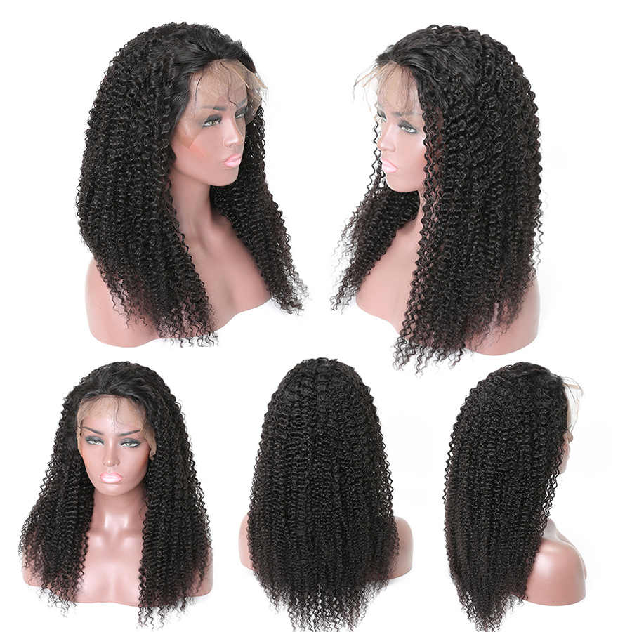 13x4 Peluca de pelo rizado Afro sin pegamento peluca frontal de encaje Gossip Remy pelucas de cabello humano frontal para mujeres Peluca de encaje indio