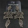 Retro brincos de strass moda cheia de jóias na Europa e América Do longo banquete folhas hipérbole jóias 997
